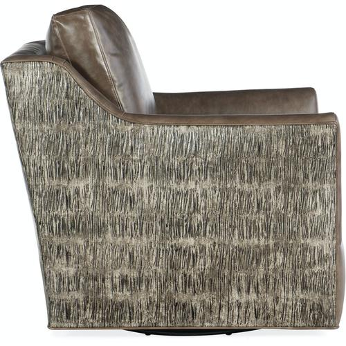 Bradington Young Marleigh Swivel Chair 8-Way Tie 772-25SW