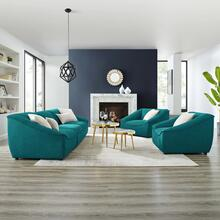 Comprise 5-Piece Living Room Set in Teal