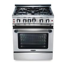 "30"" four burner gas self-clean range w/ 12"" Thermo-Griddle™ + convection oven - LP"