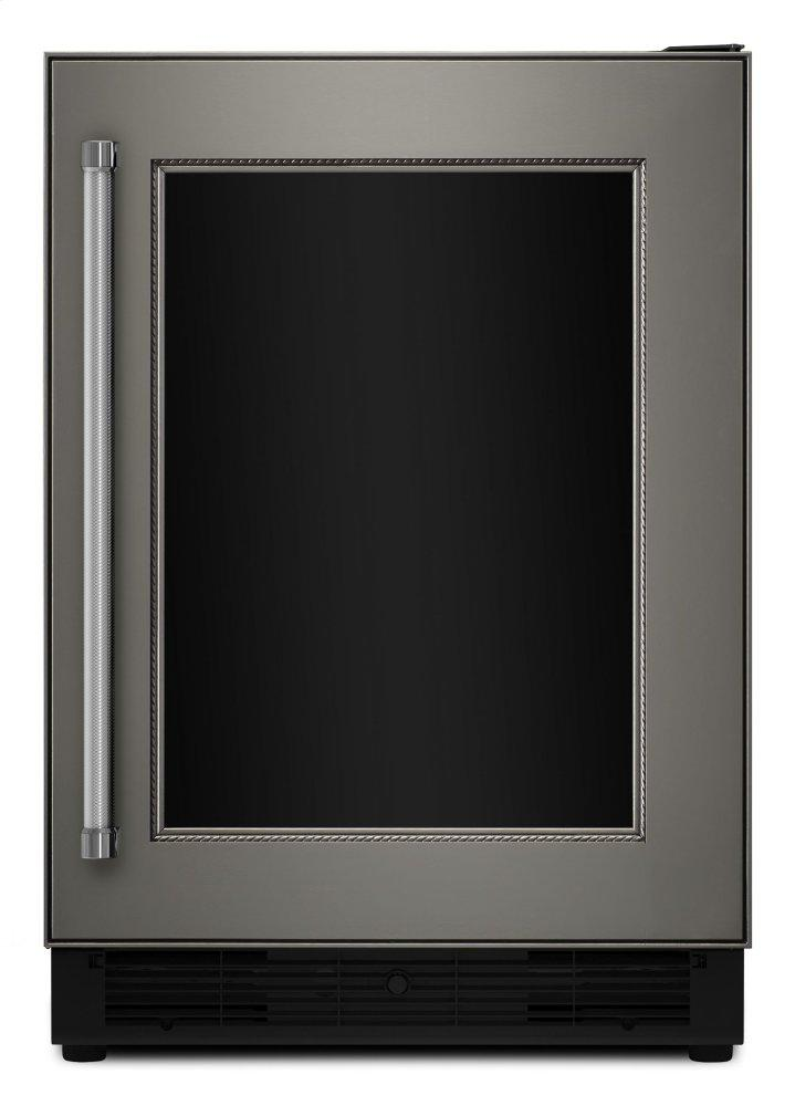 """24"""" Panel Ready Beverage Center with Glass Door - Panel Ready PA"""