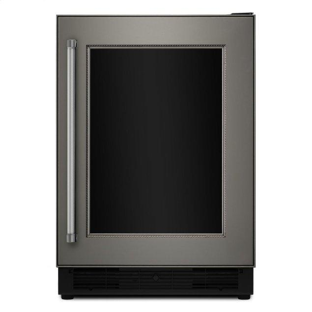 "Kitchenaid 24"" Panel Ready Beverage Center with Glass Door - Panel Ready PA"