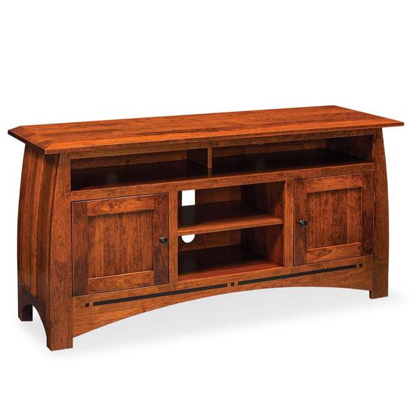 """See Details - Aspen TV Stand with Soundbar Shelf and Inlay, 54""""w x 18""""d x 32 """"h"""