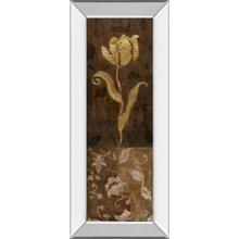 """Golden Tulip Il"" By Tava Studios Mirror Framed Print Wall Art"