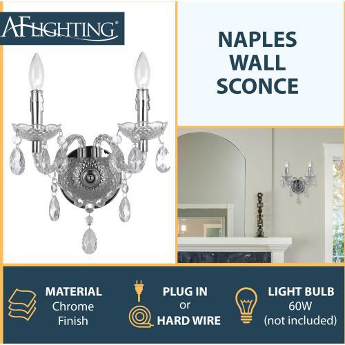 Hanover Outdoor Furniture - AF Lighting Naples 2-Light Wall Sconce, 8854-2W