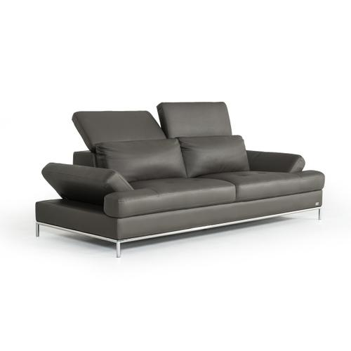 Divani Casa Izzy Modern Dark Grey Eco-Leather Sofa