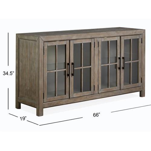 Magnussen Home - Buffet Curio Cabinet
