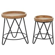"""See Details - WD MTL ACCENT TABLE S/2 19"""", 22""""H"""
