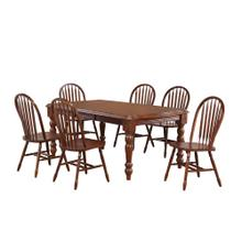 DLU-SLT4272-820-CT9PC  Andrews 9 Piece Extendable Dining Set  Arrowback Chairs