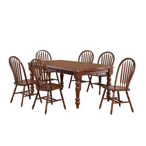 Extendable Dining Set w/Arrowback Chairs (9 Piece)