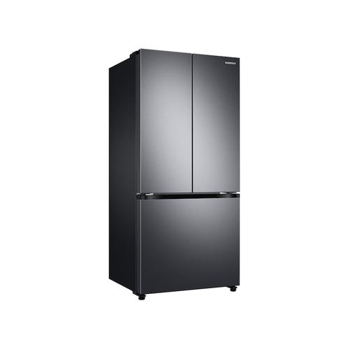 18 cu. ft. Smart Counter Depth 3-Door French Door Refrigerator in Black Stainless Steel