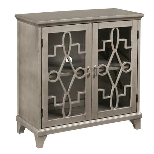 Antique silver kd two door chest
