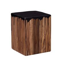 Slice Square Stool Black