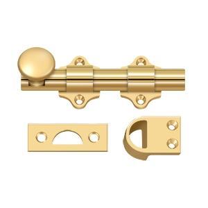 """Deltana - 4"""" Dutch Door Bolt, HD - PVD Polished Brass"""