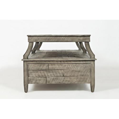 Tremblant Cocktail Table- Rustic Platinum