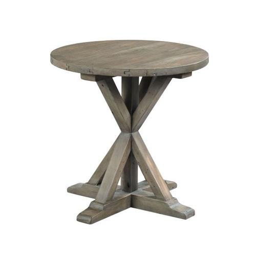 Gallery - TRESTLE ROUND END TABLE