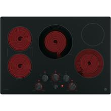 "GE Profile 30"" Electric Smoothtop Cooktop Black PP7030DJBB"
