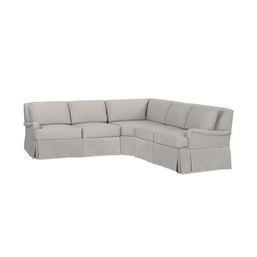 Bridgewater Small L-Shaped Sectional, Arm Style Charles of London