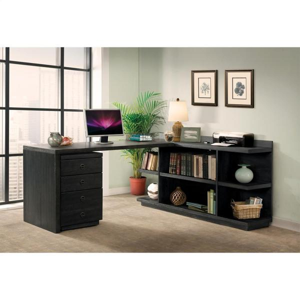 See Details - Perspectives - Mobile File Cabinet - Ebonized Acacia Finish