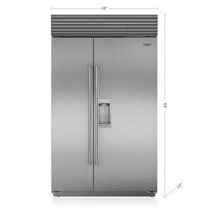 "Subzero48"" Classic Side-by-Side Refrigerator/Freezer with Dispenser"