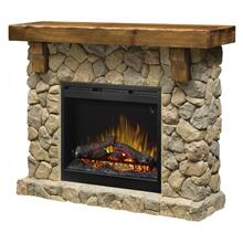 Fieldstone Mantel Electric Fireplace