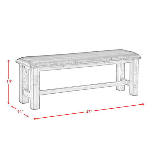 Elements - Nathan Bench w. PU Padded Seat