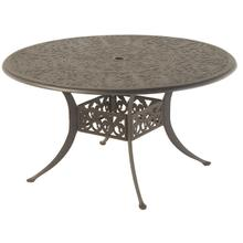 """See Details - Chateau 54"""" Round Solid Top Lazy Susan Table in Desert Bronze"""