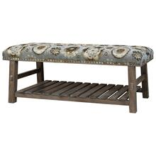 Hillcrest Rustic Frame & Pattern Bench