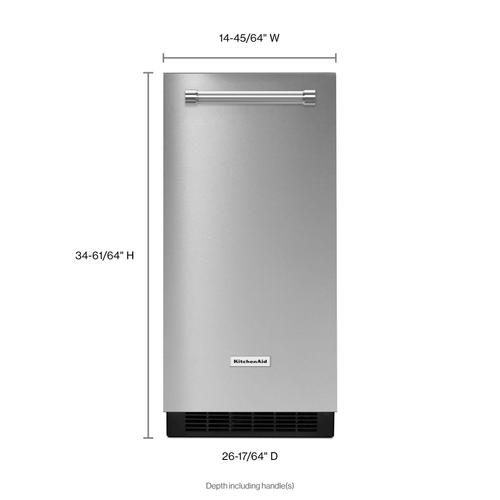 Product Image - KitchenAid® 15'' Automatic Ice Maker with PrintShield™ Finish - Stainless Steel with PrintShield™ Finish