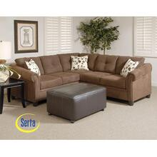 See Details - Sienna Chocolate Sectional - Left Facing