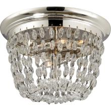 Visual Comfort CHC4206PS-SG E F Chapman Paris Flea Market 2 Light 10 inch Polished Silver Flush Mount Ceiling Light