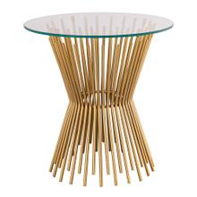 View Product - Grace Glass Side Table by Inspire Me! Home Decor