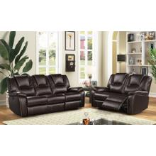 8088 DARK BROWN 2PC Power Recliner Air Leather Living Room SET