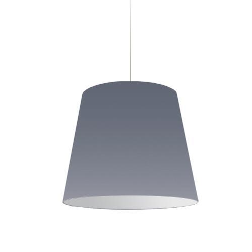 Product Image - 1lt Oversized Drum Pendant Medium Grey Shade