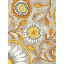 Flowers On Grey I By Elizabeth Medley (framed)
