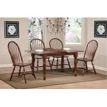 DLU-TLB3660-C30-CT5PC  Andrews 5 Piece Butterfly Dining Set  Windsor Spindleback Chairs