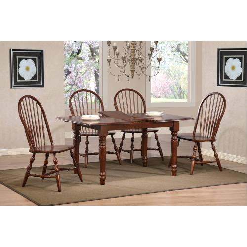 Butterfly Dining Set w/Windsor Spindleback Chairs (5 Piece)