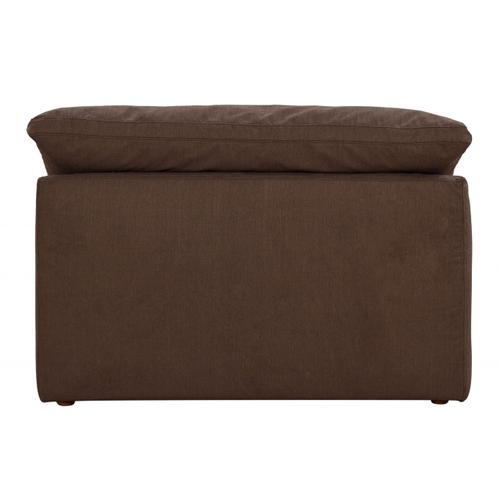 Cloud Puff Slipcovered Armless Chair Modular Sofa Sectional