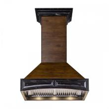 """See Details - ZLINE 30"""" Wooden Wall Mount Range Hood in Antigua and Walnut - Includes Remote Motor"""