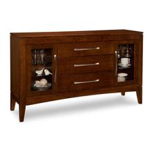 Catalina Sideboard with 2/Glass Doors on Outside & 3/Drawers in Middle & 4/Glass Adjust Shelves