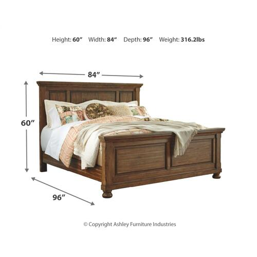 Flynnter California King Panel Bed
