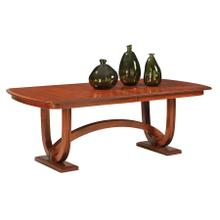 See Details - Double Pedestal Table With 4-Leaves