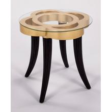 """View Product - End Table with Glass 25x25x26"""""""