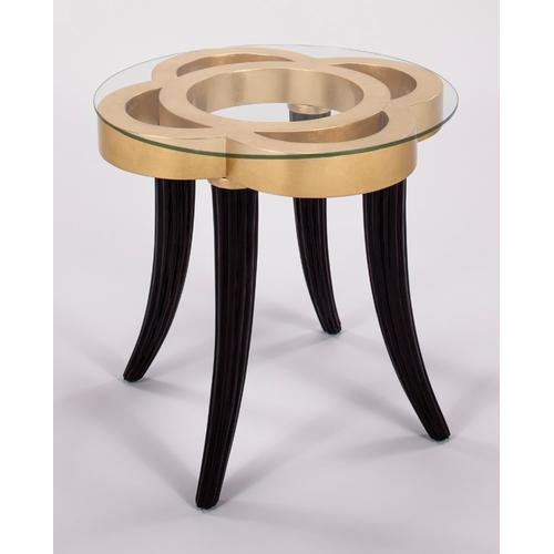 """Artmax - End Table with Glass 25x25x26"""""""