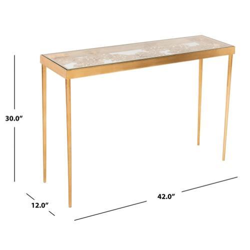 Safavieh - Leilani Palm Leaf Console Table - Gold Leaf