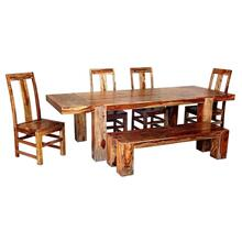 Buffalo 6 Piece Dining - Table, 4 Chairs and Bench