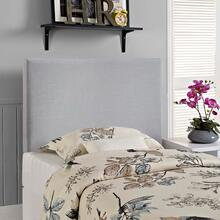 View Product - Region Twin Upholstered Fabric Headboard in Sky Gray
