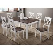 5057 A La Carte White 5-Piece Rectangular Dining Set