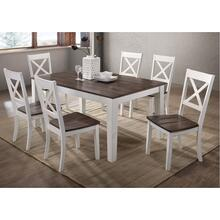 5057 A La Carte White 7-Piece Rectangular Dining Set