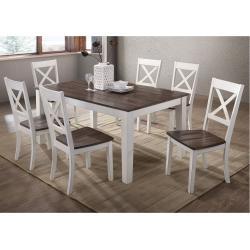 5057 A La Carte White 5-Piece Rectangular Dining Set