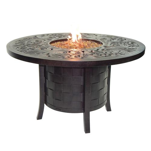 """Castelle - 49"""" Classical Round Firepit Dining Table"""